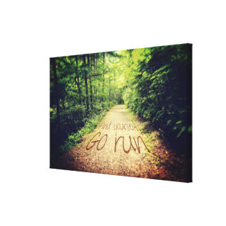 Find Yourself Go Run Inspirational Runners Quote Canvas Print
