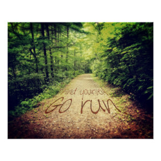 Find Yourself Go Run Inspirational Runners Quote Poster