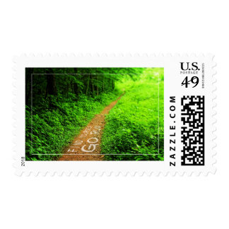 Find Yourself Go Run Motivational Runners Quote Postage Stamps