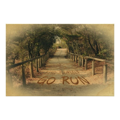 Find Yourself Go Run Park Joggers Motivational Posters