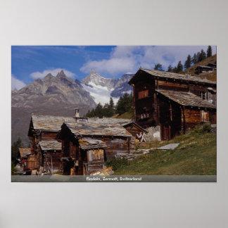 Findeln, Zermatt, Switzerland Poster