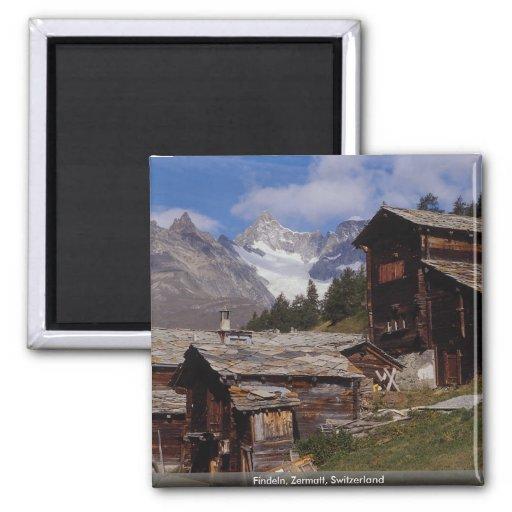Findeln, Zermatt, Switzerland Refrigerator Magnet