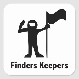 Finders Keepers Square Sticker