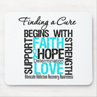 Finding a Cure Begins With Hope Addiction Recovery Mousepad