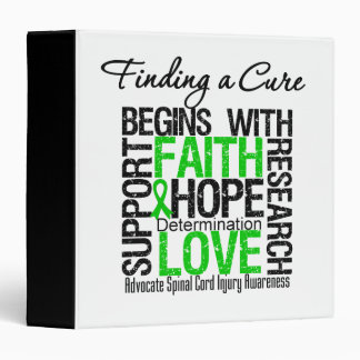 Finding a Cure Begins With Hope Spinal Cord Injury 3 Ring Binder
