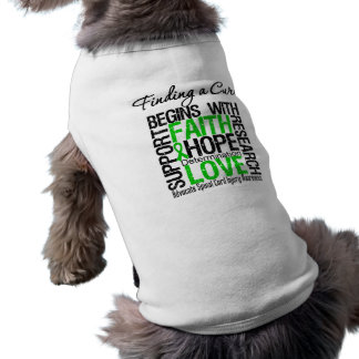 Finding a Cure Begins With Hope Spinal Cord Injury Pet Tee Shirt