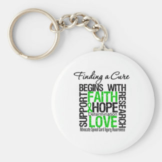 Finding a Cure Begins With Hope Spinal Cord Injury Key Chain