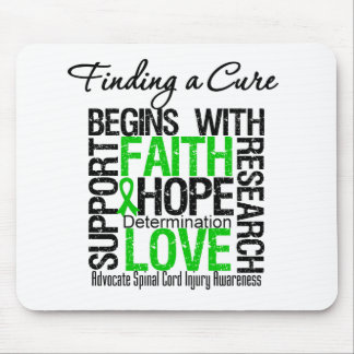 Finding a Cure Begins With Hope Spinal Cord Injury Mouse Pad