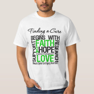 Finding a Cure Begins With Hope Spinal Cord Injury T-Shirt