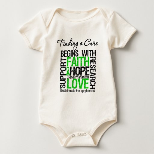 Finding a Cure Begins With Hope TBI Baby Bodysuit
