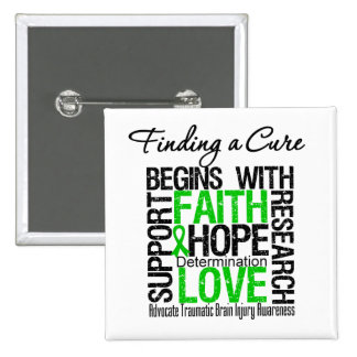 Finding a Cure Begins With Hope TBI Button