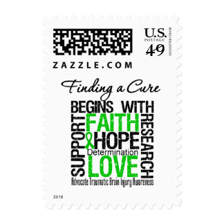 Finding a Cure Begins With Hope TBI Postage