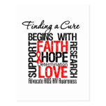 Finding a Cure For AIDS HIV Postcard