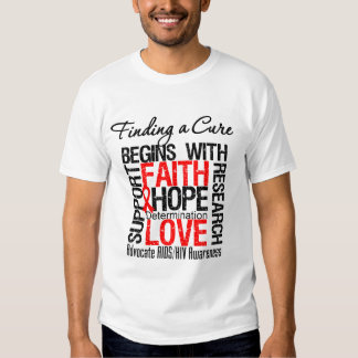 Finding a Cure For AIDS HIV T Shirt