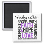 Finding a Cure For Alzheimers Disease 2 Inch Square Magnet