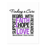 Finding a Cure For Alzheimers Disease Postcard