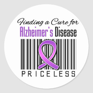 Finding a Cure For Alzheimers Disease PRICELESS Classic Round Sticker