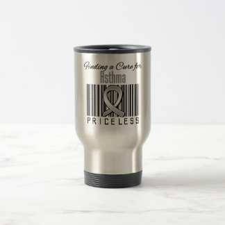 Finding a Cure For Asthma PRICELESS 15 Oz Stainless Steel Travel Mug