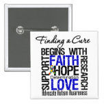 Finding a Cure For Autism Pinback Buttons