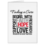 Finding a Cure For Brain Cancer Greeting Card