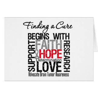 Finding a Cure For Brain Tumors Greeting Card
