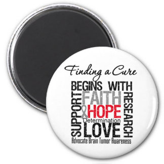 Finding a Cure For Brain Tumors Refrigerator Magnets