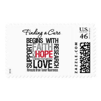 Finding a Cure For Brain Tumors Postage Stamp