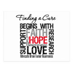 Finding a Cure For Brain Tumors Postcard