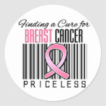 Finding a Cure For Breast Cancer PRICELESS Classic Round Sticker