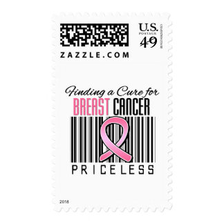 Finding a Cure For Breast Cancer PRICELESS Stamp