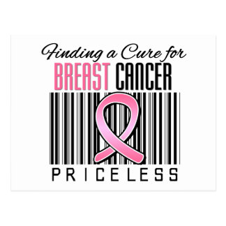 Finding a Cure For Breast Cancer PRICELESS Postcard