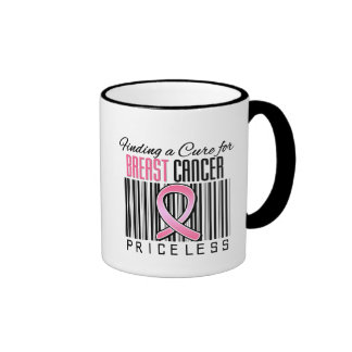 Finding a Cure For Breast Cancer PRICELESS Ringer Mug