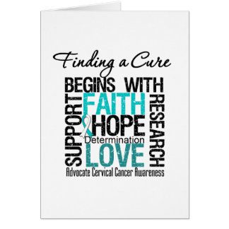 Finding a Cure For Cervical Cancer Card