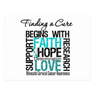 Finding a Cure For Cervical Cancer Postcards