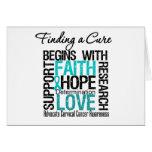Finding a Cure For Cervical Cancer v2 Greeting Cards