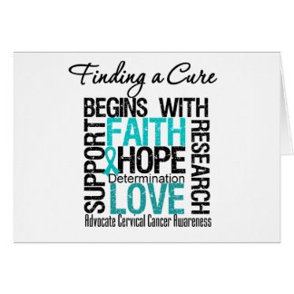Finding a Cure For Cervical Cancer v2 Greeting Cards