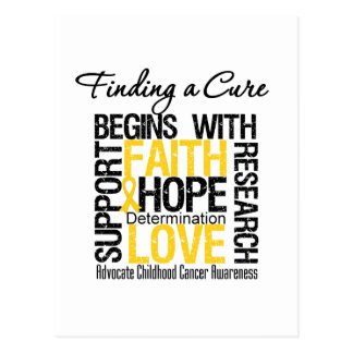Finding a Cure For Childhood Cancer Postcards