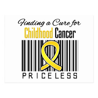 Finding a Cure For Childhood Cancer PRICELESS Postcard