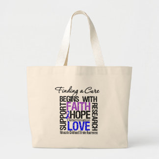 Finding a Cure For Childhood Stroke Jumbo Tote Bag