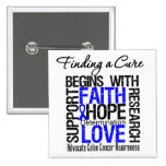 Finding a Cure For Colon Cancer Pinback Button