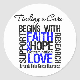 Finding a Cure For Colon Cancer Classic Round Sticker