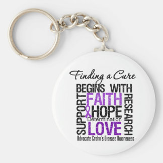 Finding a Cure For Crohns Disease Key Chain