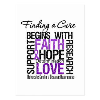 Finding a Cure For Crohns Disease Postcard