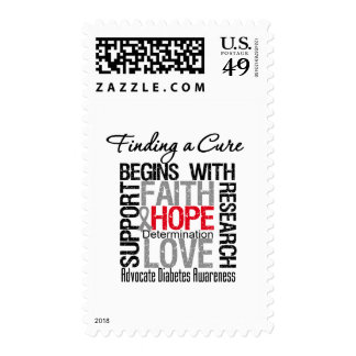 Finding a Cure For Diabetes Postage Stamps