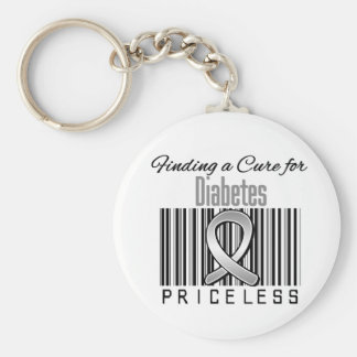 Finding a Cure For Diabetes PRICELESS Keychain