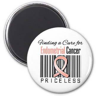 Finding a Cure For Endometrial Cancer PRICELESS 2 Inch Round Magnet