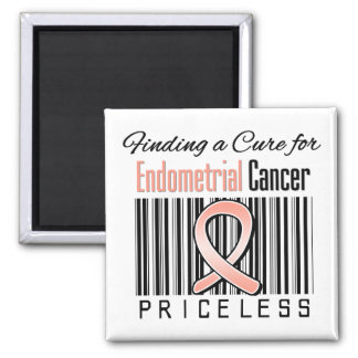 Finding a Cure For Endometrial Cancer PRICELESS 2 Inch Square Magnet