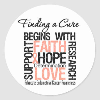 Finding a Cure For Endometrial Cancer Stickers