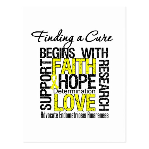 Finding a Cure For Endometriosis Post Card