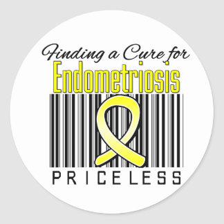 Finding a Cure For Endometriosis PRICELESS Classic Round Sticker
